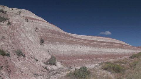 Badlands in Summer Geology Strata Sedimentary Layer Color in South Dakota
