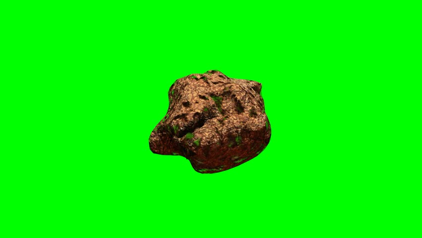 Asteroid rotates on chroma key background | Shutterstock HD Video #1011527264