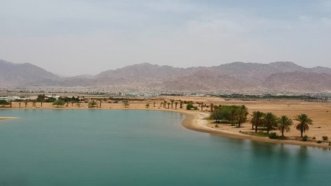 Jordan Mountains desert oasis Aqaba