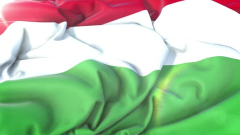 Hungary flag.Flag of Hungary Beautiful 3d animation of Hungary flag in loop mode.