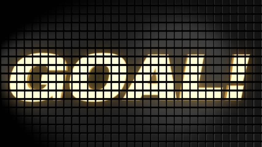 Scoreboard with goal text | Shutterstock HD Video #1011581774
