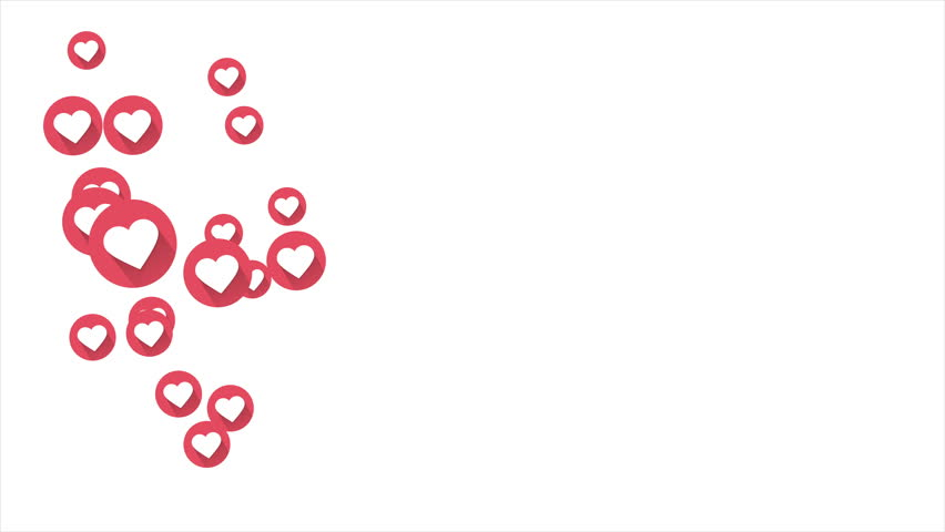 Social love heart icon animation with optional luma matte. Alpha Luma Matte included. 4k video | Shutterstock HD Video #1011589814