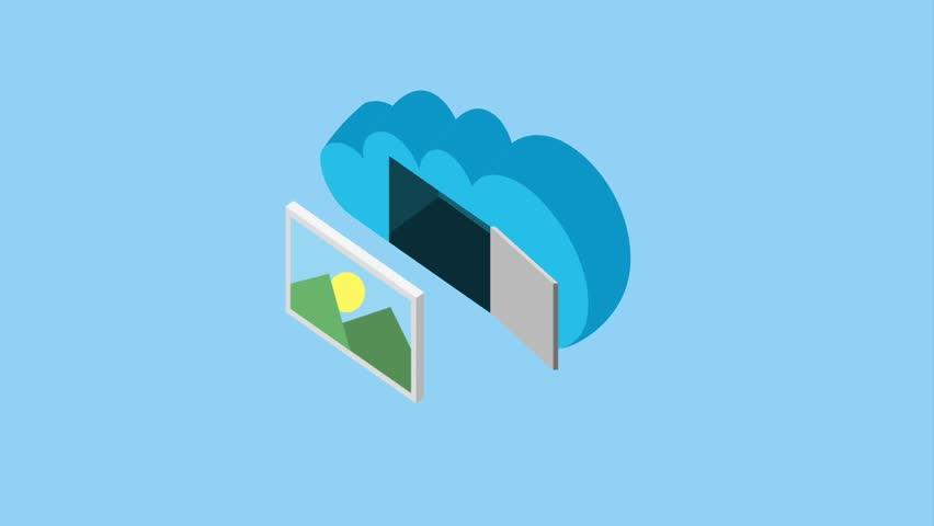 Cloud storage related | Shutterstock HD Video #1011602594