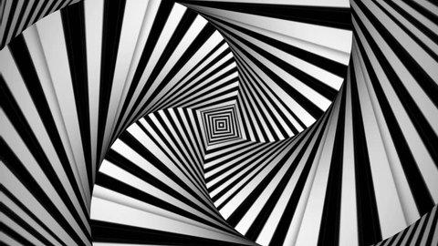 Hypnotic Rhythmic Movement Black And White  Square Kaleidoscope 27