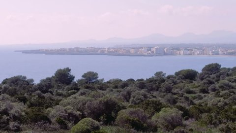Sa Coma view from Castell, Mallorca