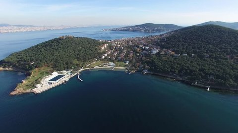 prince islands drone view in istanbul turkey