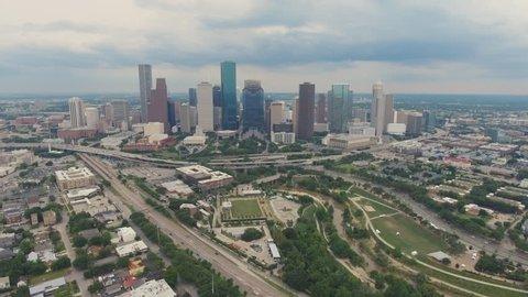 Houston Texas Skyline Downtown Aerial
