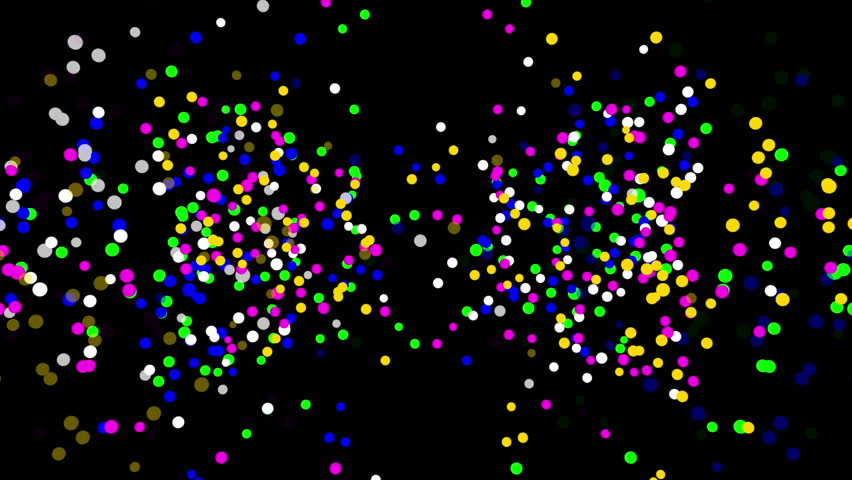 Multicolored particles confetti on black background, seamless loop 3D animation. | Shutterstock HD Video #1011772664