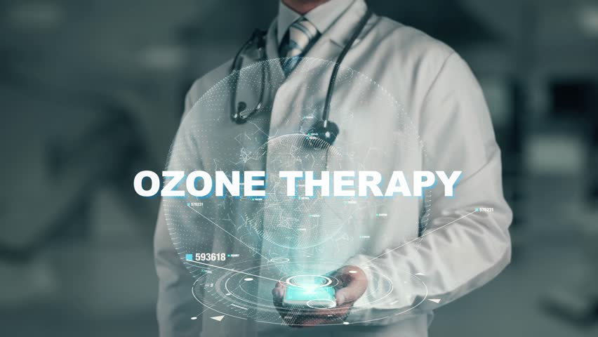 Doctor holding in hand Ozone Therapy | Shutterstock HD Video #1011842954