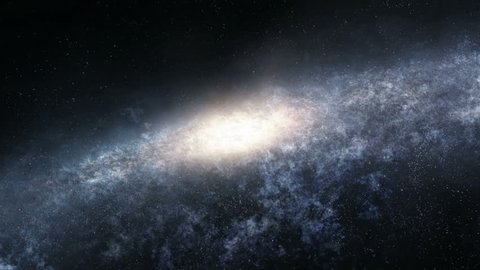 Seamlessly loopable animation of the flight into the depths of spiral galaxy