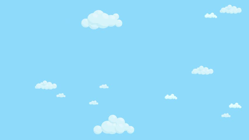 Blue Sky Full of Clouds Stock Footage Video (100% Royalty ...
