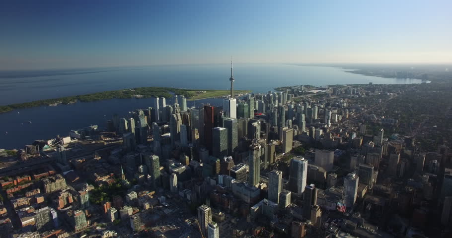 Aerial of Downtown Toronto Skyline 4K | Shutterstock HD Video #1011999674