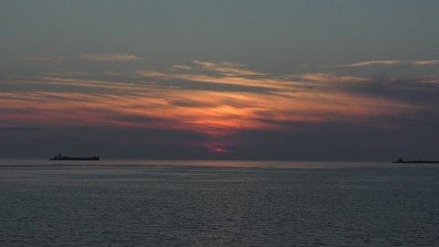 Sunset on the west coast of Okinawa.mov