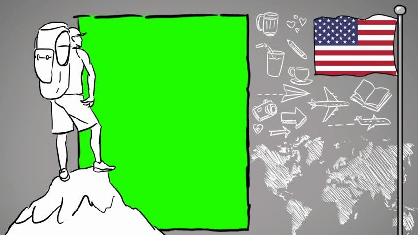 USA  hand drawn tourism | Shutterstock HD Video #1012042544