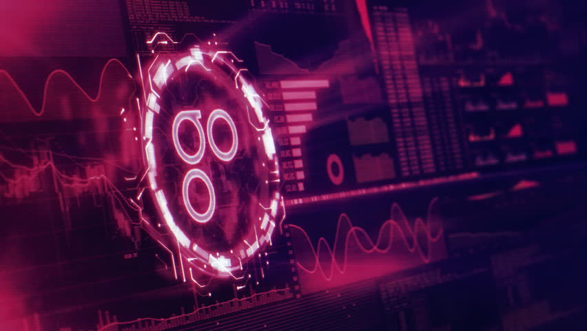 Virtual cryptocurrency OmniseGO (OMG) sign in trading and mining graphic user interface
