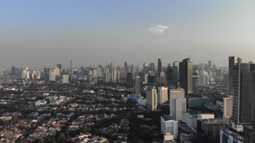 Aerial view of Jakarta, Indonesia | Shutterstock HD Video #1012135214