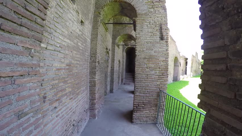 View of the museum of the walls in Rome, Italy.