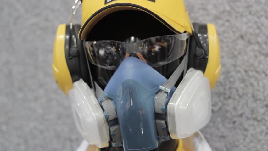 man mannequin in mask and helmet