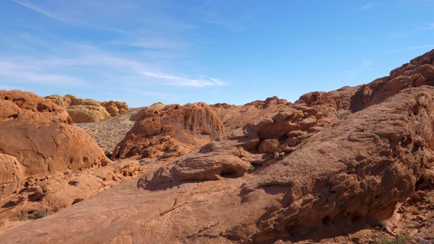 Panorama Of Red Rock Canyon 4k, 3840x2160 | Shutterstock HD Video #1012206254