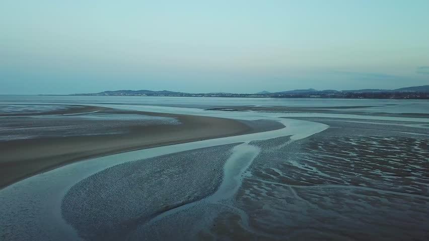 4k aerial footage of beautiful seaside of Dublin Bay, Ireland | Shutterstock HD Video #1012225004