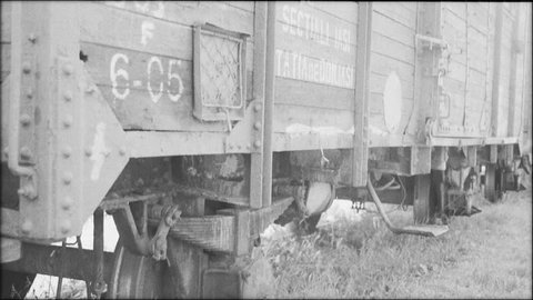 Bottom view of a holocaust train in Romania.Panoramic