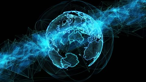 Global network concept. GUI (Graphical User Interface).