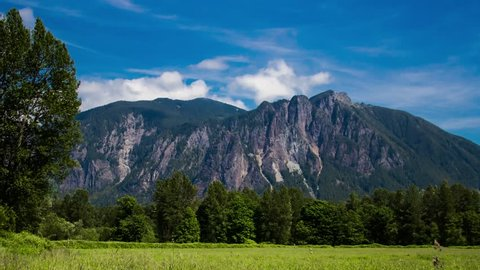Time lapse of a sunny summer day at Mount Si