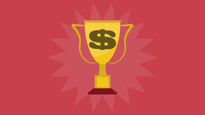Trophy cuo symbol HD animation   Shutterstock HD Video #1012271834