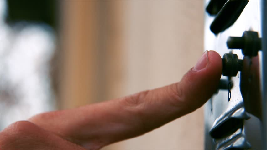 Hand Of A Male Ringing A Doorbell Of A Residence On A Sunny Day.  | Shutterstock HD Video #1012374734