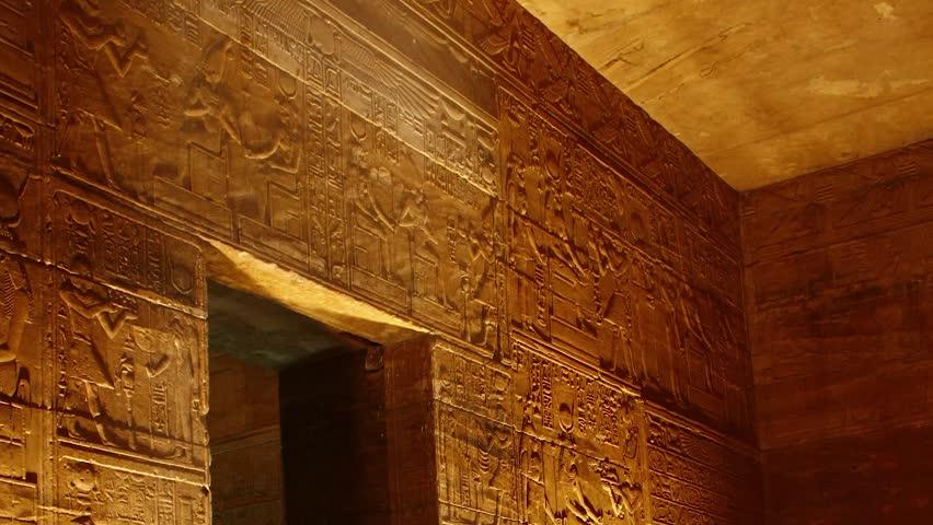 Egypt luxor Karnak Pharaonic murals inside Karnak Temple