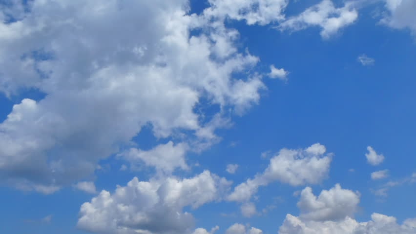 Sky and clouds time lapse in a sunny day #1012443584