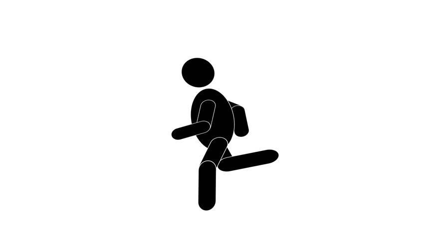 Pictogram man run. 2D loop animation | Shutterstock HD Video #1012468154