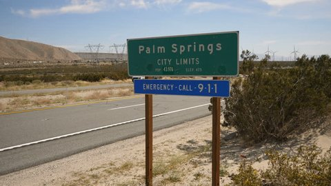 Palm Springs California Sign