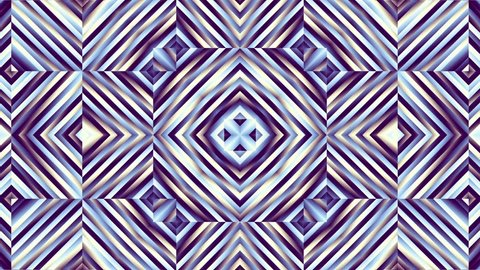 Moving and transforming abstract geometric shapes. Seamless looping footage.