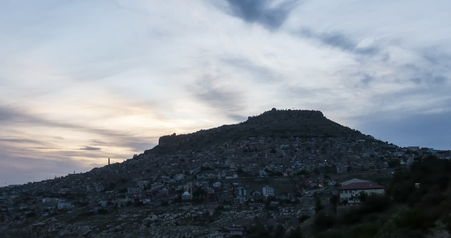 Mardin day to night timelapse 4K video