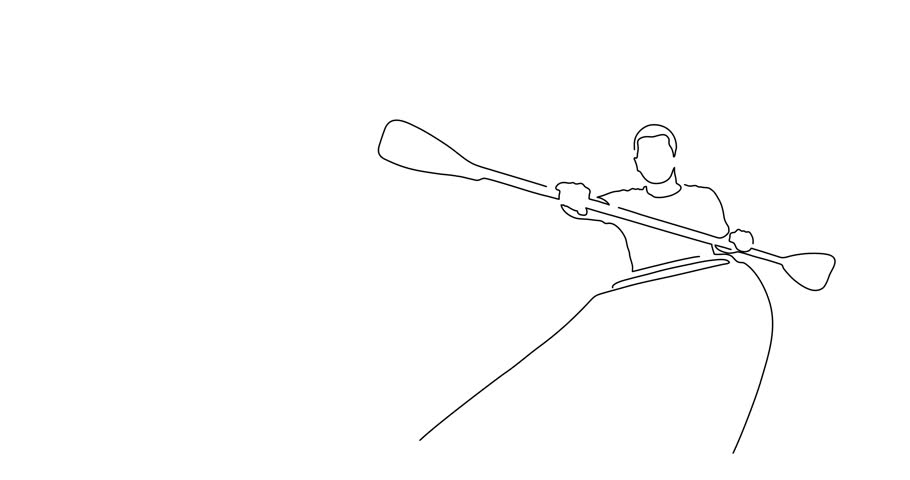 Canoeist line drawing, vector illustration design. Outdoor sports collection. | Shutterstock HD Video #1012640084