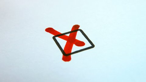 Checkbox with red cross