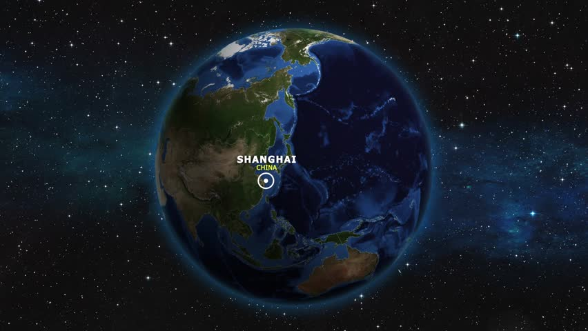 CHINA SHANGHAI ZOOM IN FROM SPACE   Shutterstock HD Video #1012733414