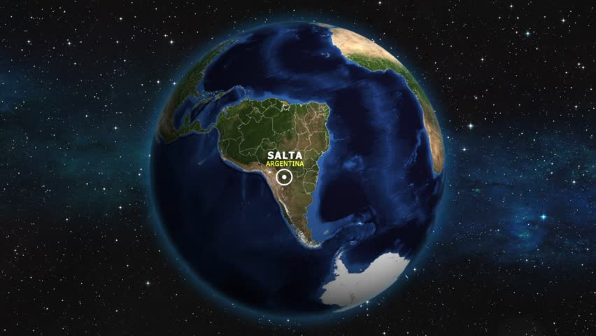 ARGENTINA SALTA ZOOM IN FROM SPACE