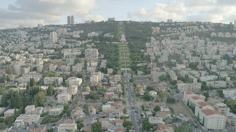 Haifa Bahai gardens aerial drone footage 4k dlog ungraded flatHaifa Bahai gardens aerial drone footage 4k dlog ungraded flat