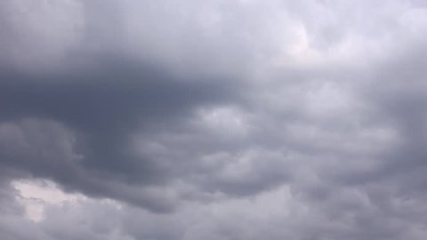 Dark evening clouds, nature sky, time lapse. Nature Environment cloudscape. Spectacular clouds cover sky,Altocumulus,dusk. Full HD, 1920x1080, 30 FPS. FHD.