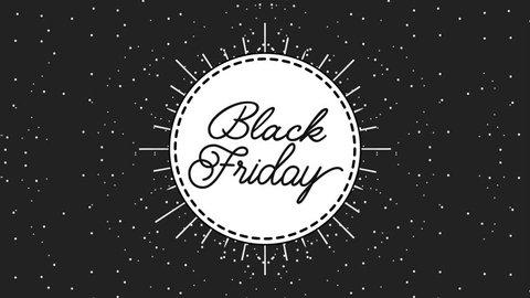 vintage frame black friday dotted background black friday animation hd
