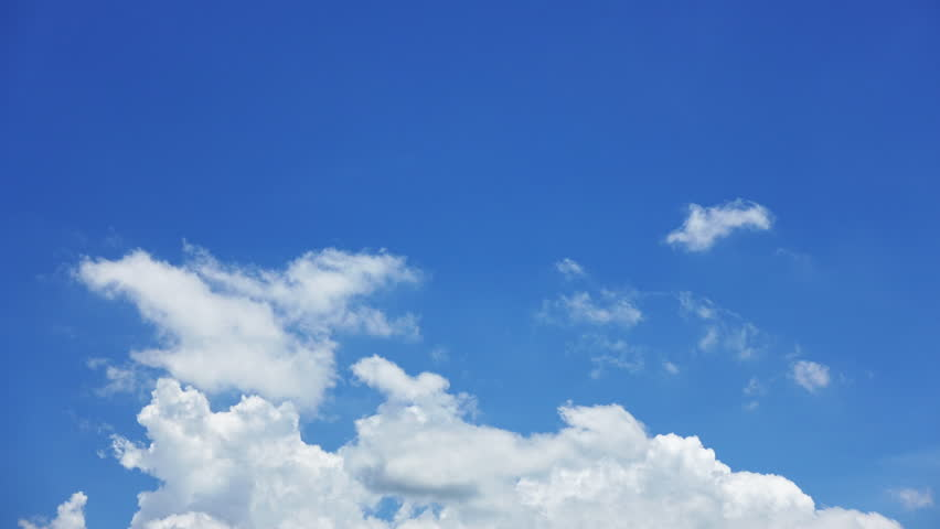 Beautiful White clouds in the blue sky on a bright day, Time Lapse 4K #1013179214
