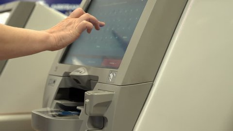 Airport Check Kiosk Stock Video Footage 4k And Hd Video Clips