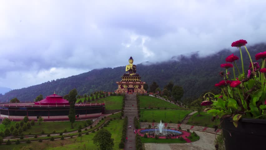 Time lapse of Buddha Park, Sikkim 1080p 30FPS