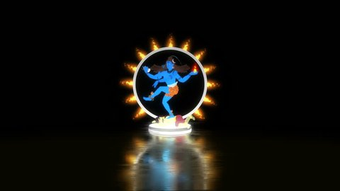 Lord Shiva Dancing on Apasmara in a Ring of Fire