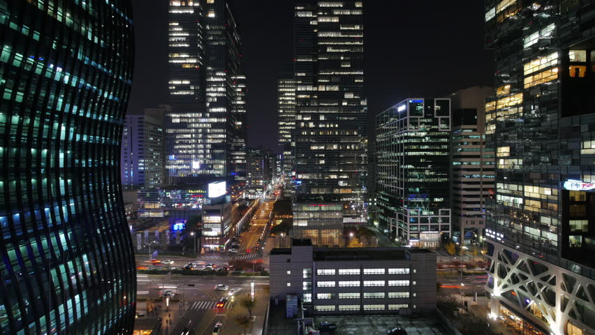 Night view of dynamic city | Shutterstock HD Video #1013416844