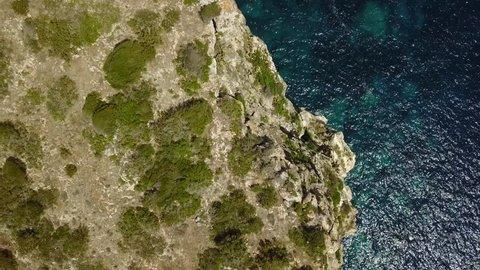 Drone Rock Cliff