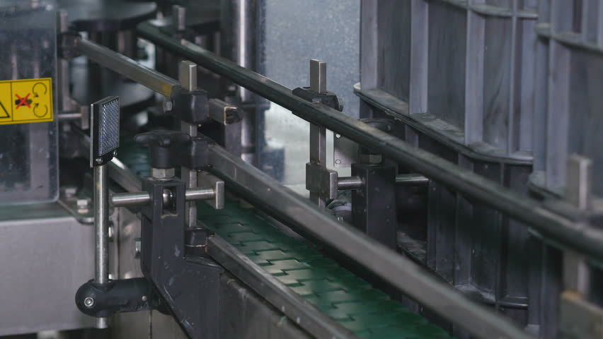 Empty belt tape at factory | Shutterstock HD Video #1013423114