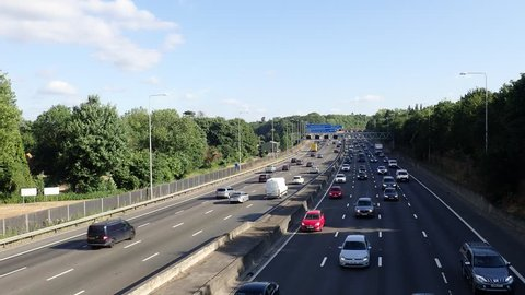 M25 Motorway, Junction 18, Chorleywood, Hertfordshire, UK